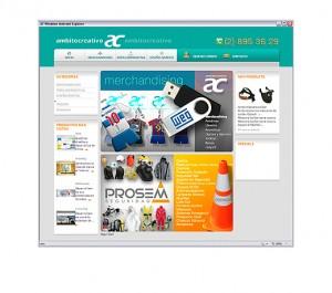 sitio AMBITOCREATIVO, merchandising, ropa corporativa y seguridad